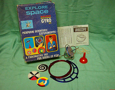 1968 Metal Steven's Educational Toy Top Space Gyro Scientific Experiments Set