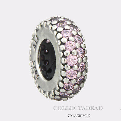 Authentic Pandora Sterling Silver Pink CZ Inspiration Within Spacer 791359PCZ