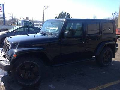Jeep : Wrangler Unlimited Sahara Sport Utility 4-Door 2009 jeep wrangler unlimited sahara 4 door 75 000 black garage kept 2 nd owner