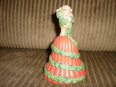 Collectibles - Table Top Bell  1991 AVON with Teddy bear on top