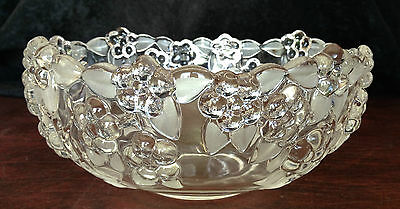 "8.75"" Serving Bowl Walther Crystal Carmen Satin West Germany Mikasa Salad Fruit"