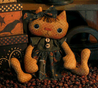 PATTERN Primitive Cat Kitty Doll UNCUT by Threadbare Primitives CUTEST EVER!