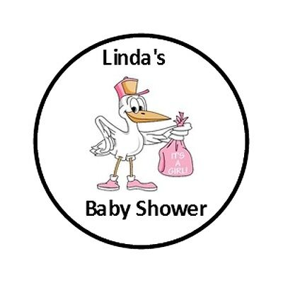 108 Personalized Stork Baby Shower Hershey Kisses Party Favor labels
