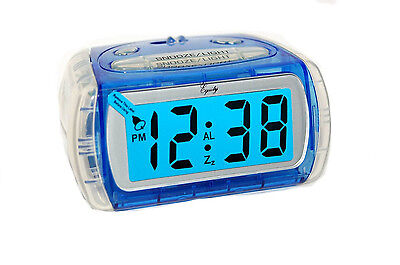 Equity by La Crosse Large 1-Inch LCD Display Battery Operated Alarm Clock 31018