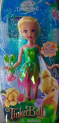 Disney Fairies Tinker Bell with Flutter Wings and Pixie Pass. New Sealed