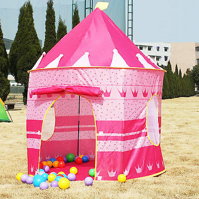 Foldable Pink Princess Castle Play Tent Cuby House Best Christmas Gift Kids