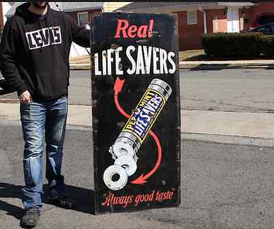 Original 1920's Lifesavers Candy Porcelain Sign.. Extremely Rare