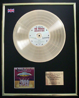 The Troggs Greatest Hits Cd Gold Disc Record  Free P&p!