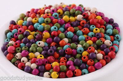 200 pcs mixed Turquoise Howlite Gemstone Spacer Loose Beads Findings Charms 4mm