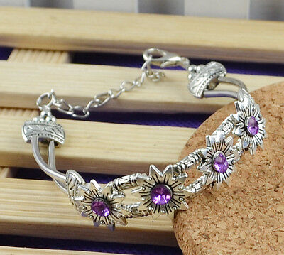 New Classical Natural hot Turquoise cute tibet silver Bracelet *H-732