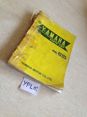 Yamaha parts list RS125 type 479 RS 125 including additive type 505 for England