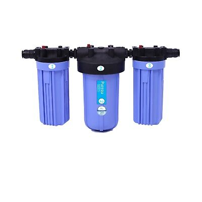 Pureau 2H+ Water softener and hydrogenating water filter for 2 bathroom home