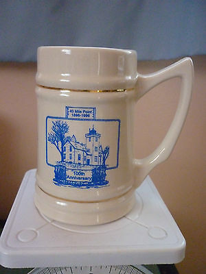 LE 1996 Rogers City Mich Nautical 125th Anniv 40 Mile Point Lighthouse Mug Stein