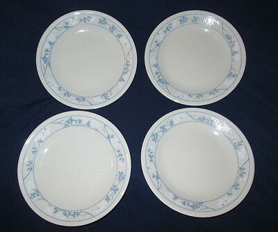 """LOT OF 4 CORELLE CORNING FIRST OF SPRING BEIGE TAN 6.75"""" DESSERT BREAD PLATES"""