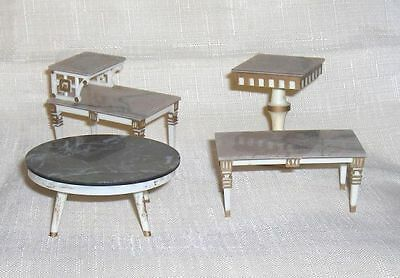 Lot of  Four  Occasional Tables   Ideal Petite Princess Dollhouse Furniture