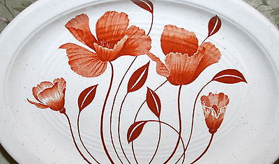 J & G Meakin Autumn Flowers Serving Platter Studio Stone Ironstone