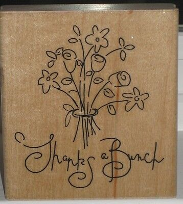 "JRL Design Rubber Stamp - ""Thanks A Bunch"" Bouquet"