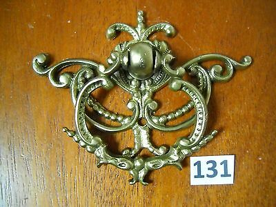 Antique Victorian Brass Single Screw Ring Drop Drawer Pull