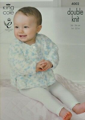 KNITTING PATTERN Baby Long Sleeve Round Neck Jacket Vents Cuddles DK KC 4002