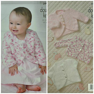 KNITTING PATTERN Baby Three Styles Cardigan Cuddles DK King Cole 3996