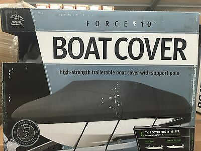 Force 10 Model C High  Strength Trailerable Boat Cover 16 - 18.5 ft Boats NEW