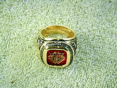 Knights of Columbus ring Red stone Size 12