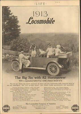 1913 Locomobile 6 Bridgeport CT Automobile Magazine Ad ma7705