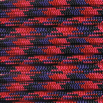 Candy Snake 100 ft 550 Paracord 7 Strand Parachute Cord Pink Black Red Purple