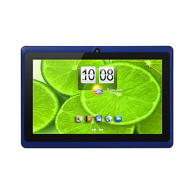 """7"""" Tablet PC Quad Core Android 4.4 KitKat Wi-Fi Dual Camera + Accessory (Blue)"""