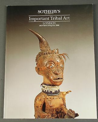 Sothebys Important Tribal Art African Art July 1990 London w prices