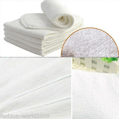 New Washable Insert Baby InfantCloth Diaper Nappy Liners Inserts 100% Microfiber