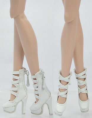 Fashion Royalty FR2 Poppy Parker, DG, Momoko 26*8 MM Doll White Shoes Boots 5