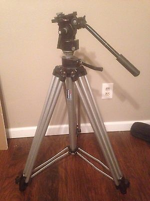 Bogen Manfrotto 3046 Tripod with 3063 Fluid Head ~ FREE SHIPPING ~