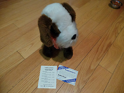 Vintage RADIO SHACK 1970's portable AM plush dog radio
