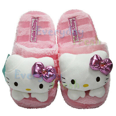NEW Sanrio Hello Kitty Cute Plush Home Slipper Shoes Fluffy Slippers #A