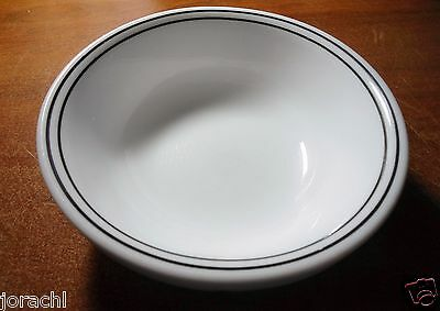"CORELLE CITY BLOCK OR CITY LINE 6.25"" CEREAL BOWLS, SET OF 2, EXC"