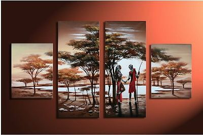 new 4pc Huge WALL Modern Abstract on Canvas decorative Oil Painti (no framed)074