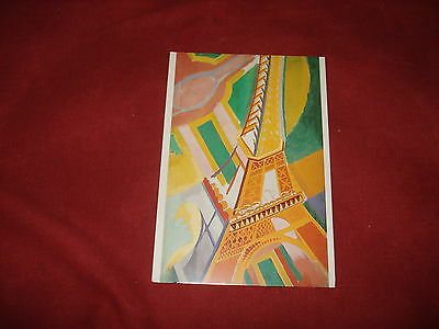 VINTAGE FRANCE: PARIS La Tour Eiffel art card colour Delaunay