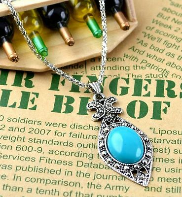 New Classical Natural hot resin cute tibet silver Necklace+Pendant H-1520