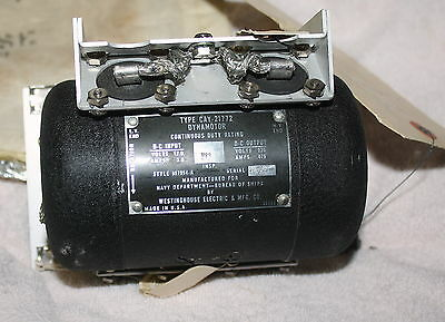 NAVY RADIO DYNAMOTOR TYPE CAY-21772 // NOS UNUSED // PACKAGE OPENED FOR PHOTOS