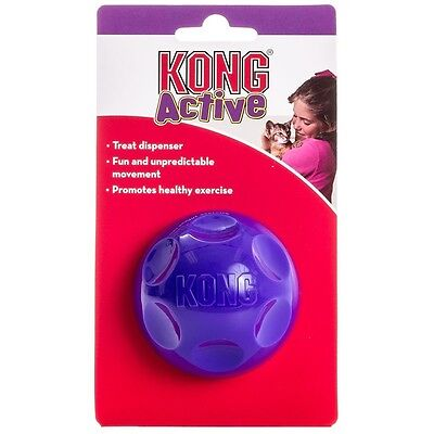 Kong Cat Treat Ball Interactive Cat Kitten Toy Play Time Fill With Biscuits