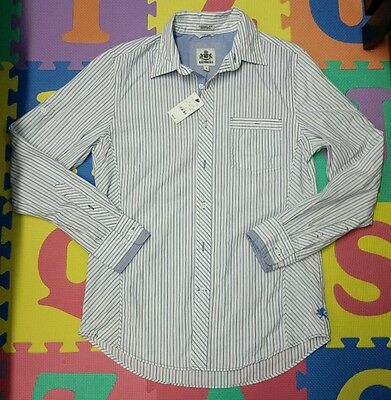 NEW w/TAGS Men's Express Dress Shirt Striped Long Sleeve Casual Fit Size Small
