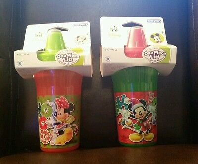 Disney Mickey & Minnie Mouse, Insulated Sippy Cup from The First Years, 2 Pack
