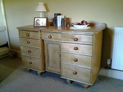 Very Old Victorian Pine Sideboard
