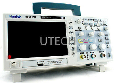 "Hantek DSO5072P Digital Oscilloscope 70MHz 1GSa/s 2CH 24K 7""TFT 3 years warranty"