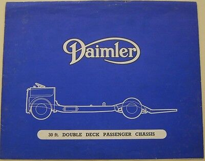 Daimler 30 foot Double Deck Bus Chassis Original Sales Brochure circa 1950s