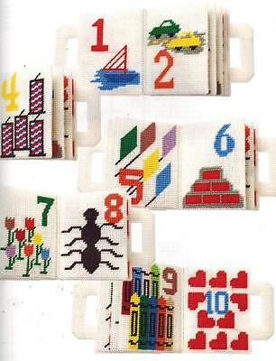 Teach the Children ABC's & 123's Kid's Puzzle Game Book Plastic Canvas Patterns