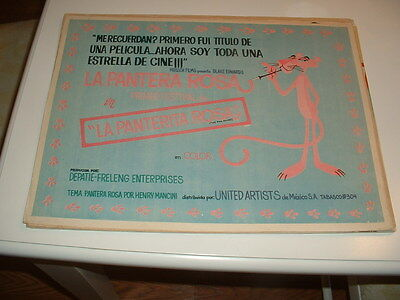 PINK PANTHER-SELLERS-ORIGINAL MEXICAN LOBBY CARD