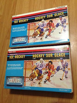 Vintage Radio Shack Battery Operated Table Top Ice Hockey Game Lot Of 2