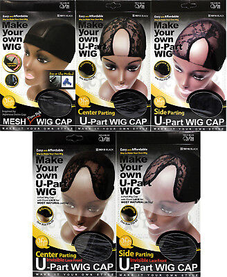 Qfitt Make Your Own U-Part Wig Cap Invisible Mesh Dome Lace Front One Size Black